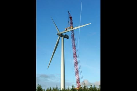 A 500-tonne crane is needed to erect the turbines. Ironically, wind can be a problem as work has to stop if the wind is too strong.